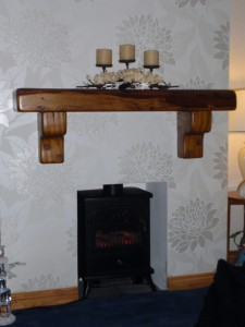 French Oak Beam with Corbal Supports
