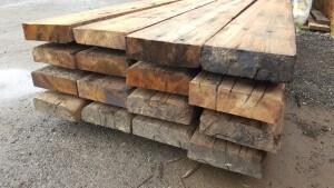 Slabbed Hardwood Sleepers